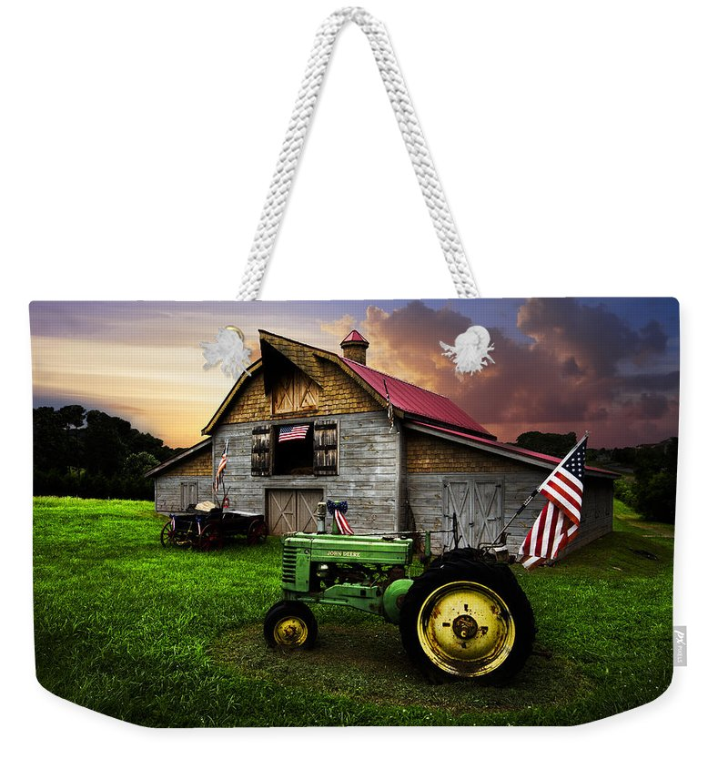 American Weekender Tote Bag featuring the photograph God Bless America by Debra and Dave Vanderlaan