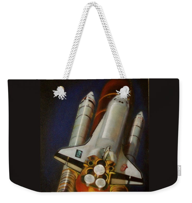 Oil Painting On Canvas Weekender Tote Bag featuring the painting God Plays Dice by Sean Connolly