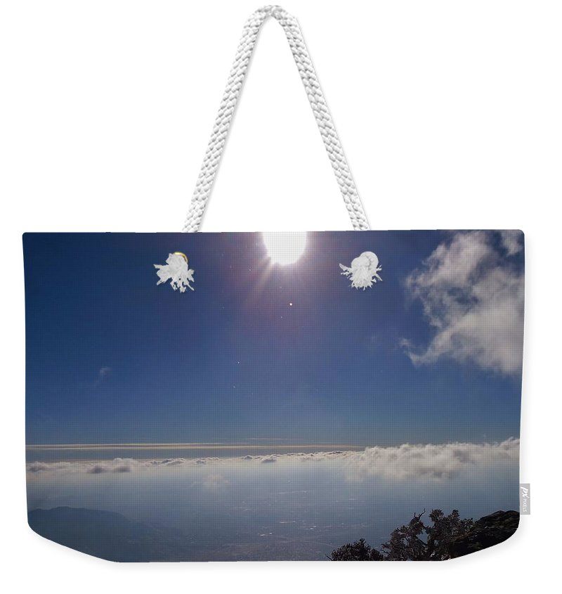 Sun Weekender Tote Bag featuring the photograph God's Creation by Lois  Rivera