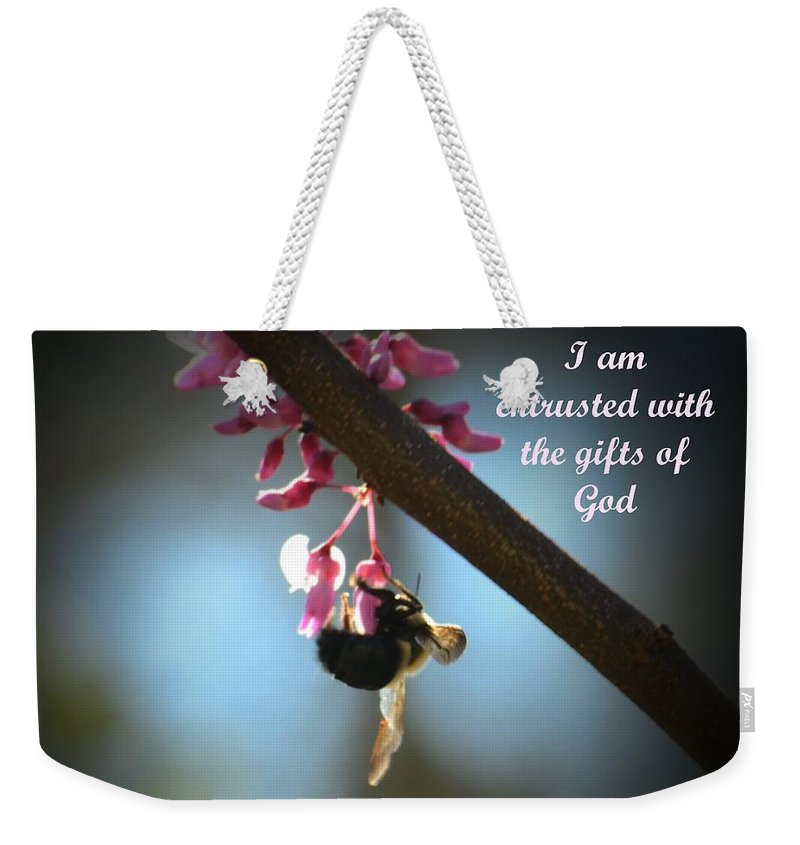 God's Gifts Weekender Tote Bag featuring the photograph God's Gifts by Maria Urso