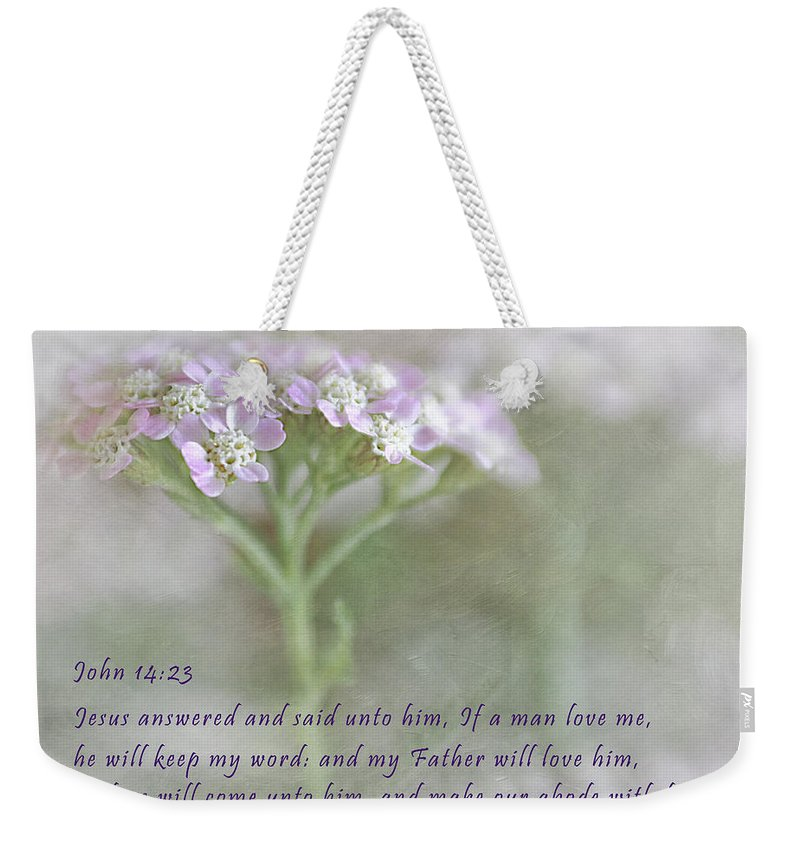Bible Weekender Tote Bag featuring the photograph God's Love by David and Carol Kelly