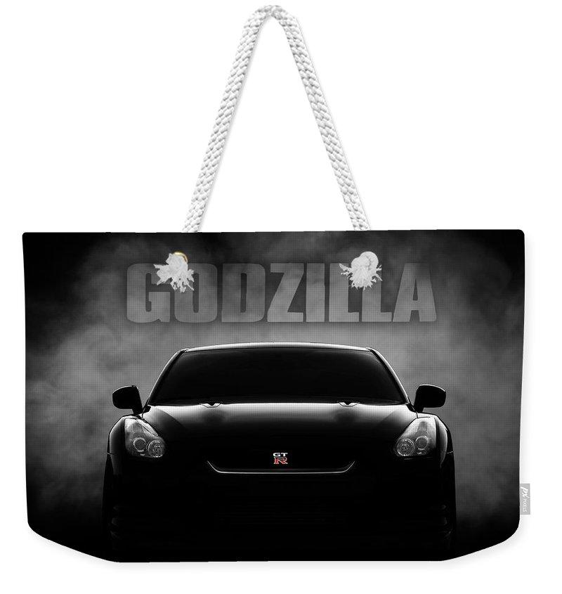 Gtr Weekender Tote Bag featuring the digital art Godzilla by Douglas Pittman