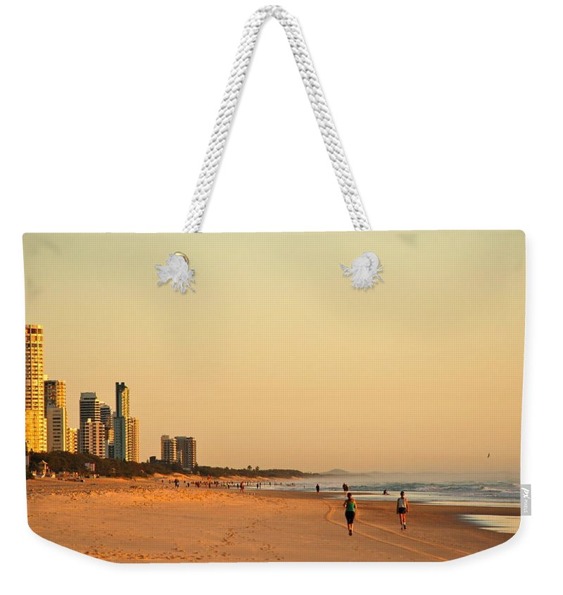 Beach Weekender Tote Bag featuring the photograph Gold Coast Beach by Eric Tressler