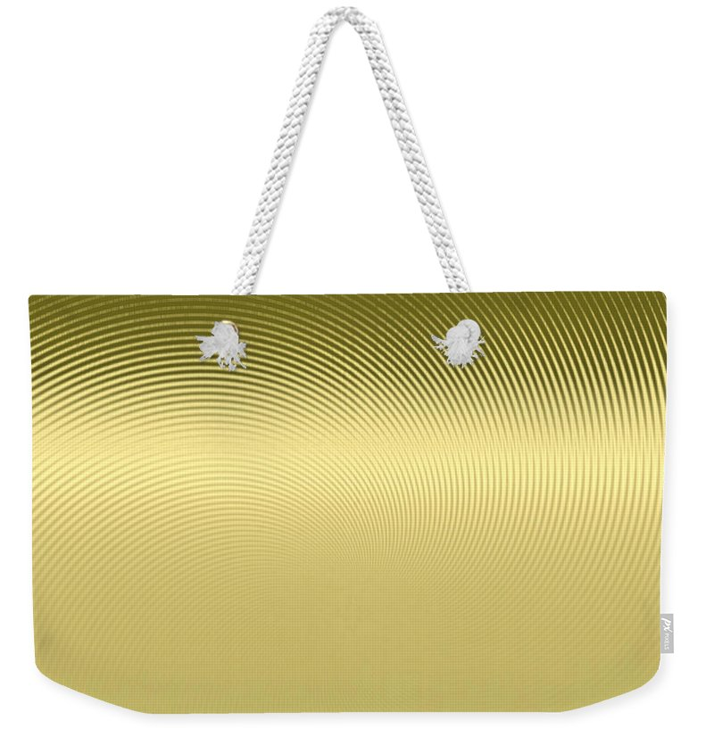 Gleaming Gold Weekender Tote Bag featuring the digital art Gold Metallic 12 by Patricia Keith