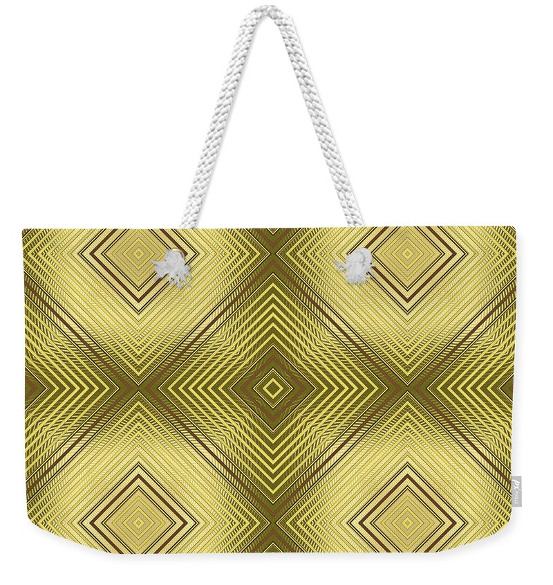 """""""gleaming Gold"""" Weekender Tote Bag featuring the digital art Gold Metallic 14 by Patricia Keith"""