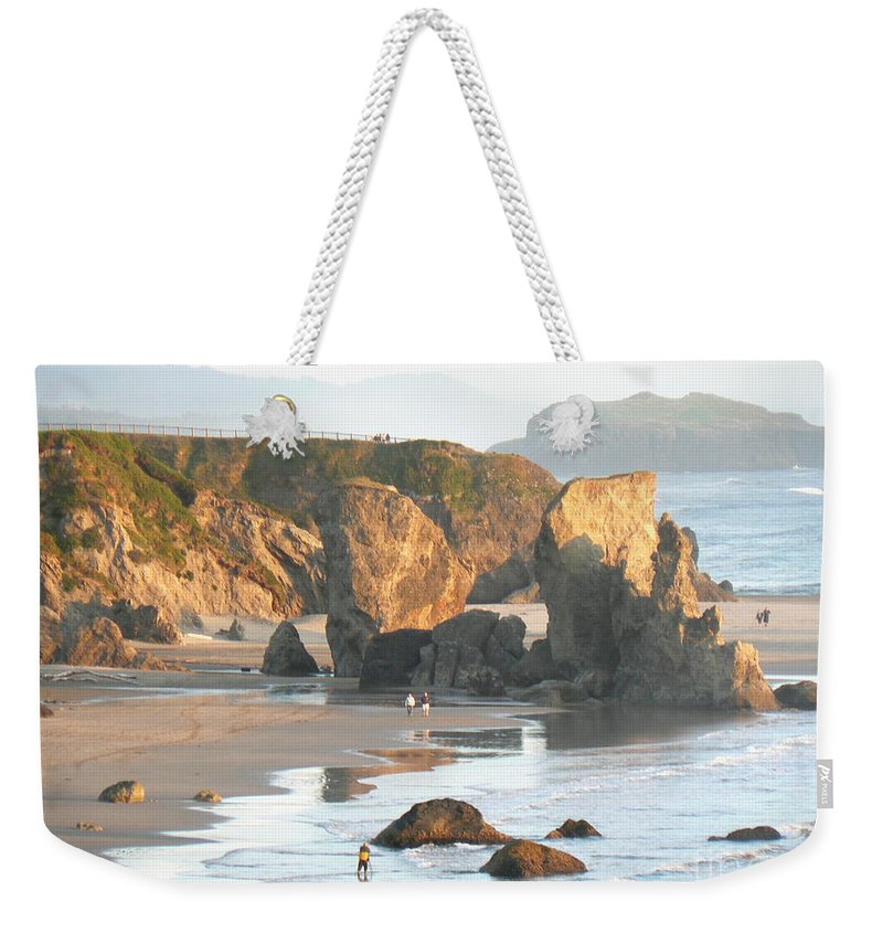Oregon Weekender Tote Bag featuring the photograph The Oregon Coast by Dona Dugay