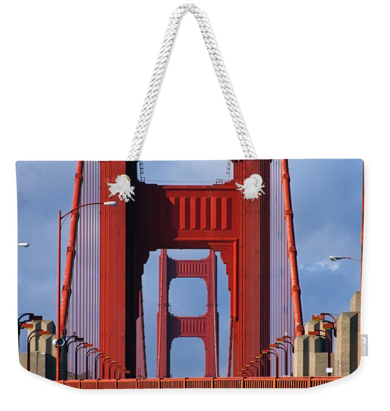 3scape Weekender Tote Bag featuring the photograph Golden Gate Bridge by Adam Romanowicz