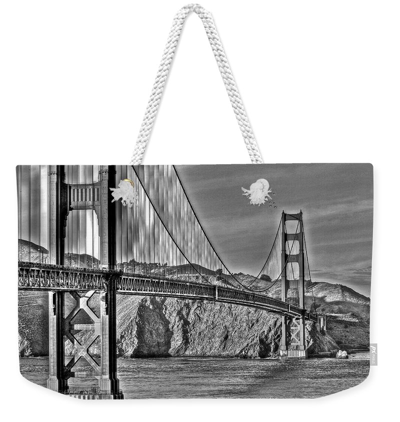 Golden Gate Bridge Weekender Tote Bag featuring the photograph Golden Gate Over The Bay 2 by SC Heffner