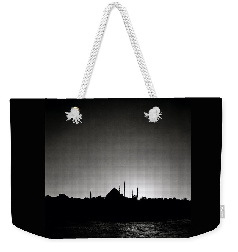 Istanbul Weekender Tote Bag featuring the photograph Golden Horn by Shaun Higson