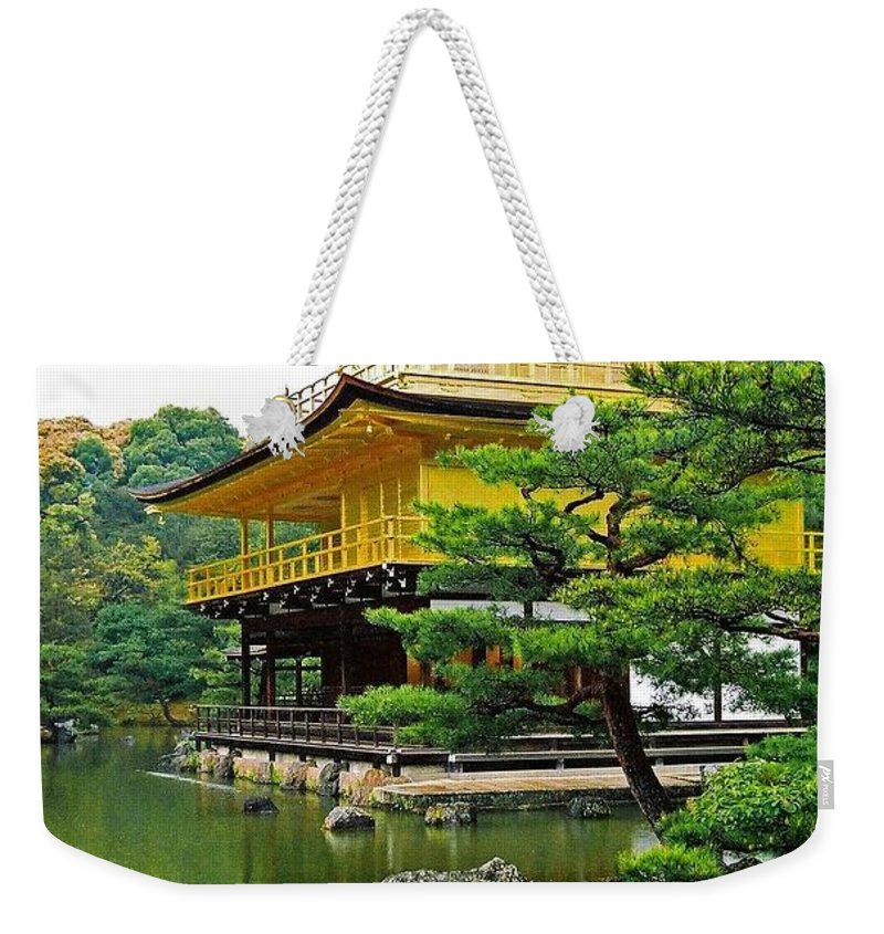 Asia Weekender Tote Bag featuring the photograph Golden Pavilion - Kyoto by Juergen Weiss