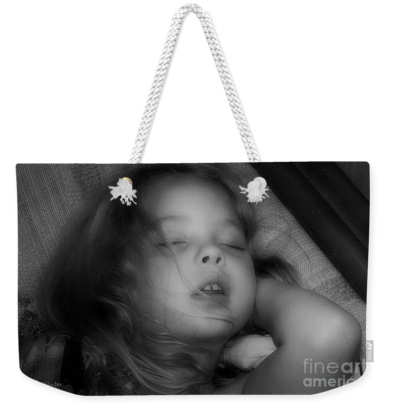 Child Weekender Tote Bag featuring the photograph Golden Slumbers by RC DeWinter