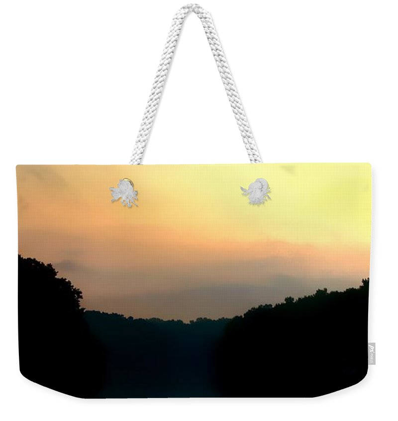Apalachicola River Weekender Tote Bag featuring the photograph Golden Sunrise by Debra Forand