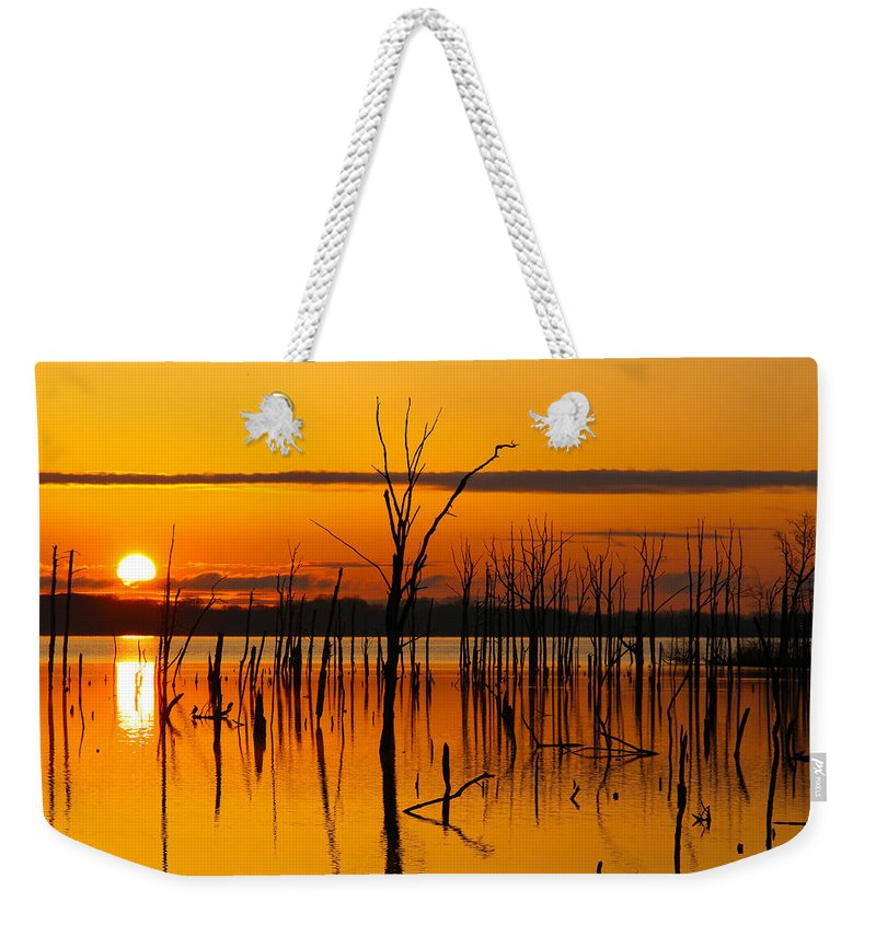 Sunrise Weekender Tote Bag featuring the photograph Golden Sunrise II by Roger Becker