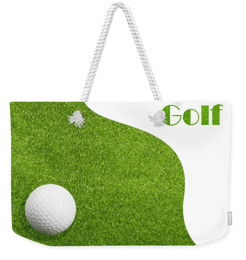 Golf Weekender Tote Bag featuring the photograph Golfiing by Amanda Elwell