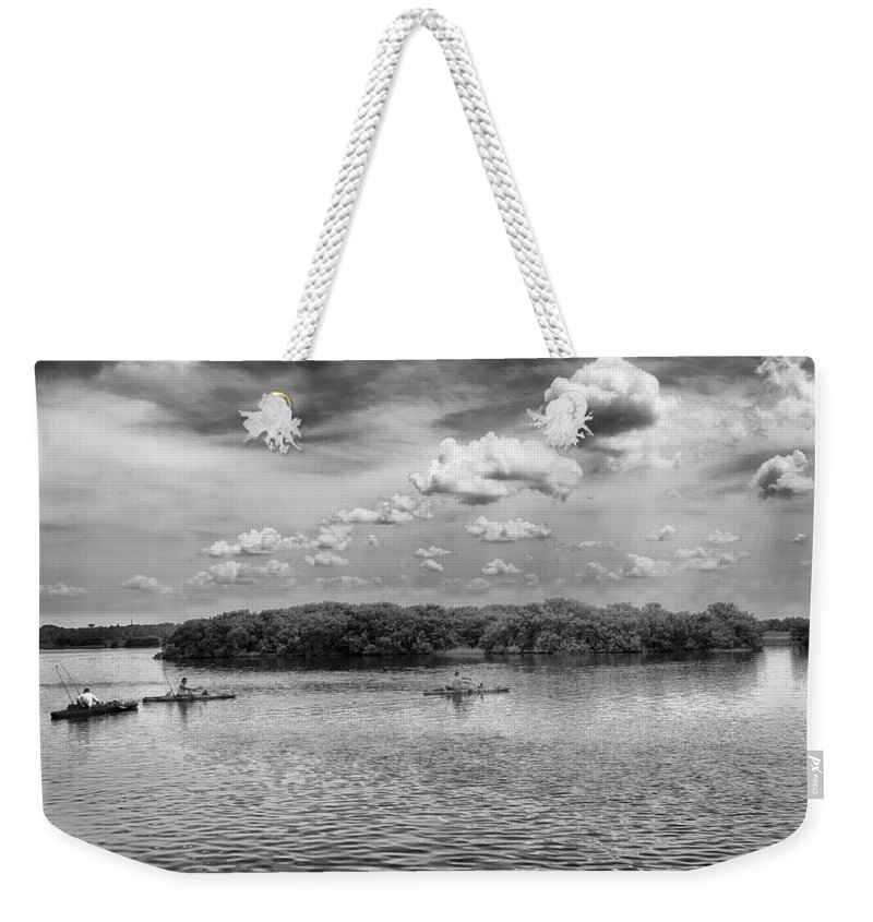 Weekender Tote Bag featuring the photograph Gone Fishing by Howard Salmon