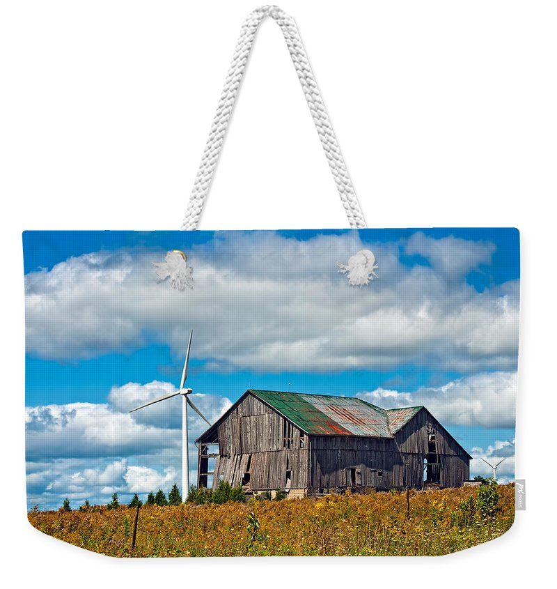 Canada Weekender Tote Bag featuring the photograph Gone With The Wind by Steve Harrington