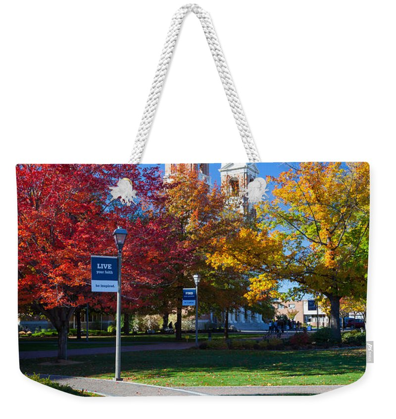 America Weekender Tote Bag featuring the photograph Gonzaga Pathway by Inge Johnsson