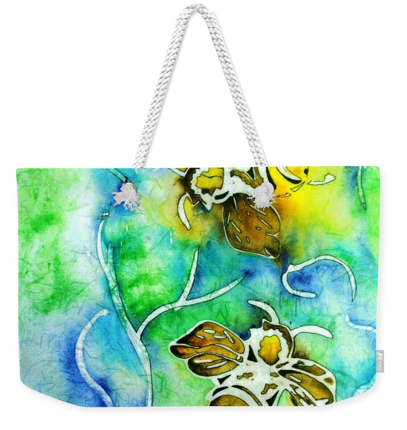 Bee Weekender Tote Bag featuring the painting Good Day To Be A Bee by Pat Purdy