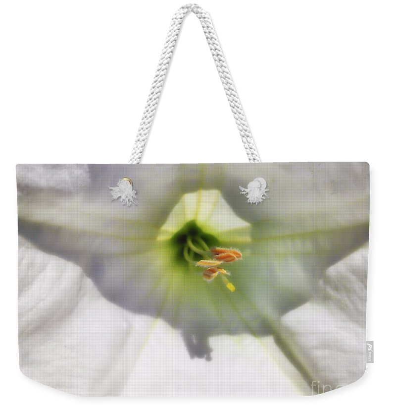 Moon Flower Weekender Tote Bag featuring the photograph Good Dreams by Thomas Woolworth