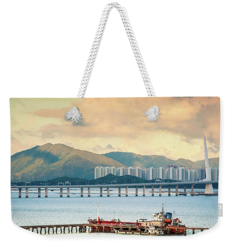 Outdoors Weekender Tote Bag featuring the photograph Good Morning Shenzhen & Hong Kong by Capturing A Second In Life, Copyright Leonardo Correa Luna