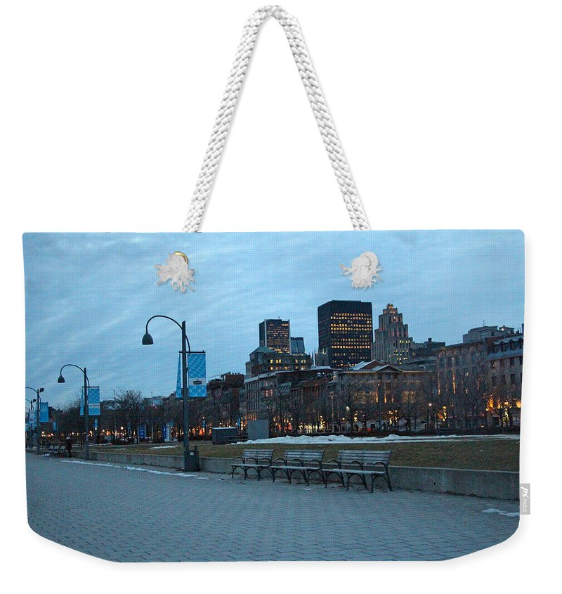 Montreal Weekender Tote Bag featuring the photograph Good Night Montreal by Munir Alawi