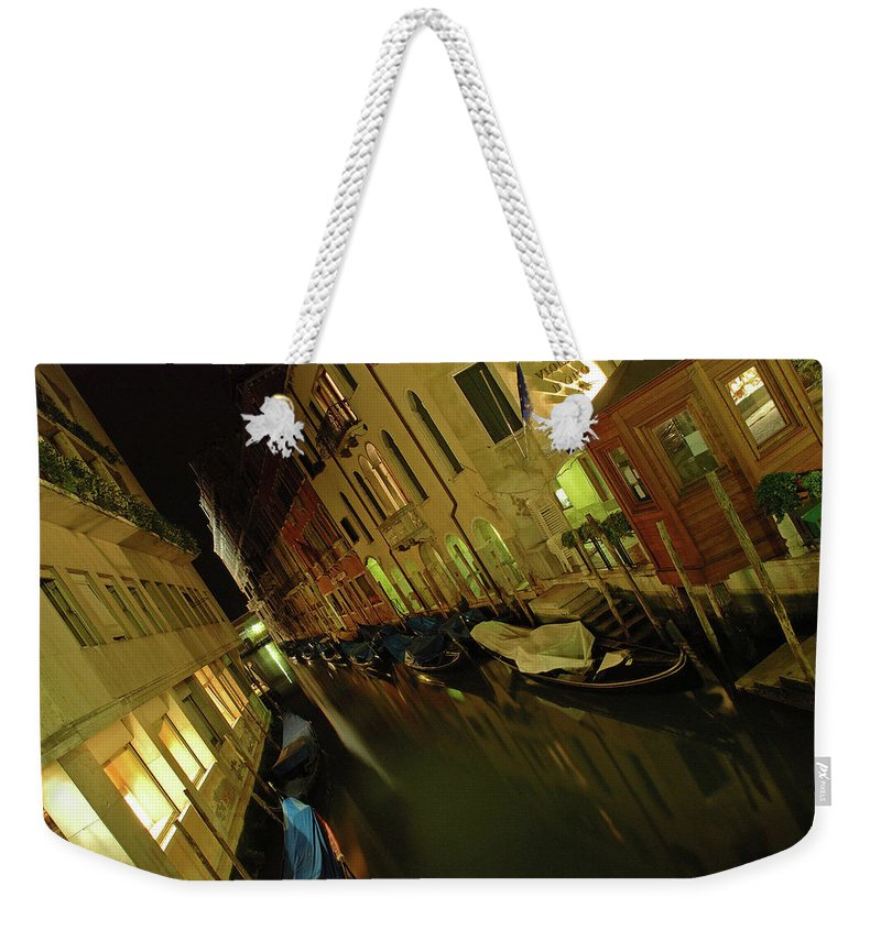 Italy Weekender Tote Bag featuring the photograph Goodnight Gondola by George Buxbaum