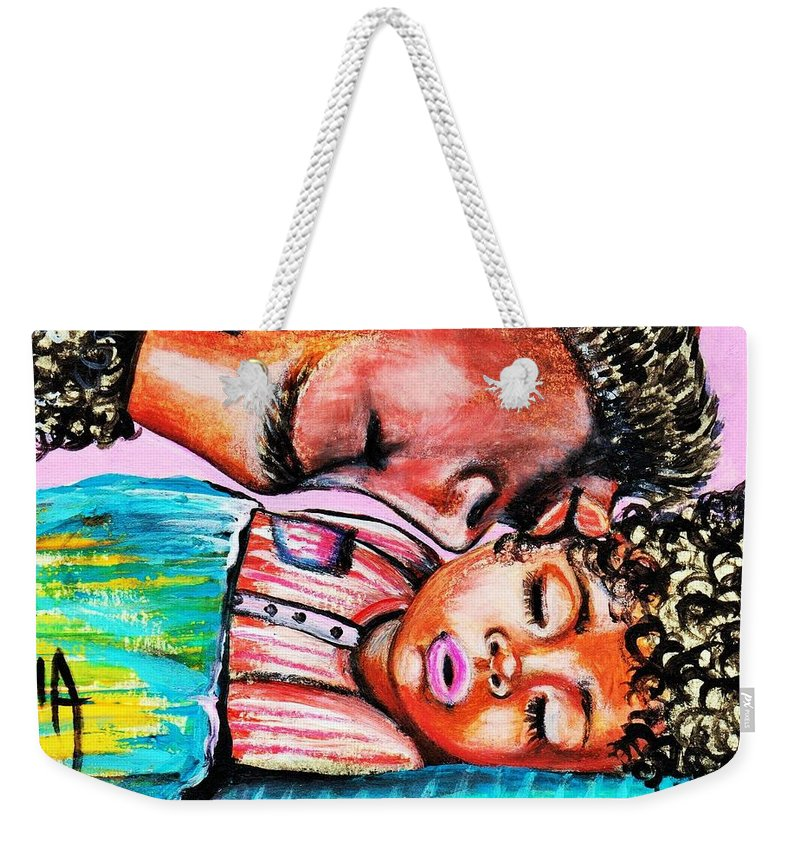 Artbyria Weekender Tote Bag featuring the photograph Goodnight Kiss by Artist RiA