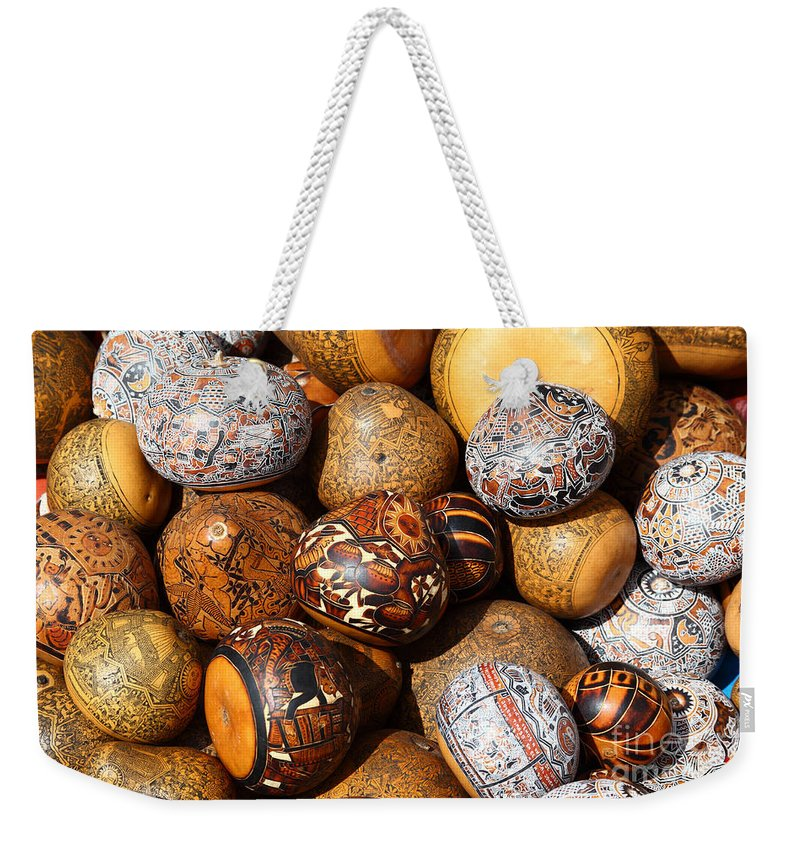 Craft Weekender Tote Bag featuring the photograph Gourds Galore by James Brunker