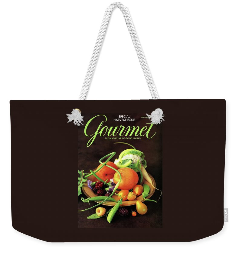 Gourmet Cover Featuring A Variety Of Fruit Weekender Tote Bag