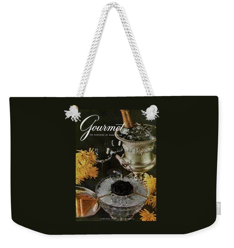 Food Weekender Tote Bag featuring the photograph Gourmet Cover Featuring A Wine Cooler by Arthur Palmer
