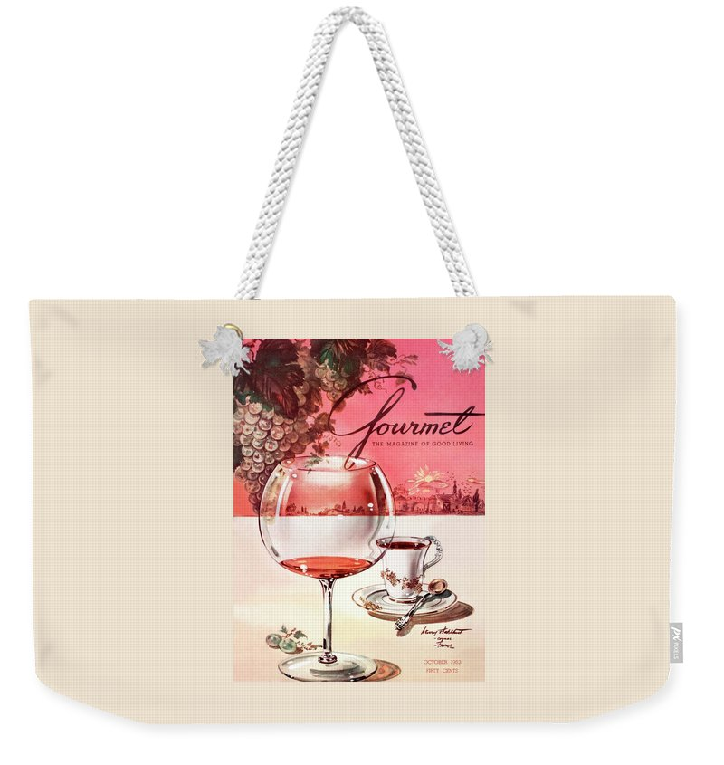 Travel Weekender Tote Bag featuring the photograph Gourmet Cover Illustration Of A Baccarat Balloon by Henry Stahlhut