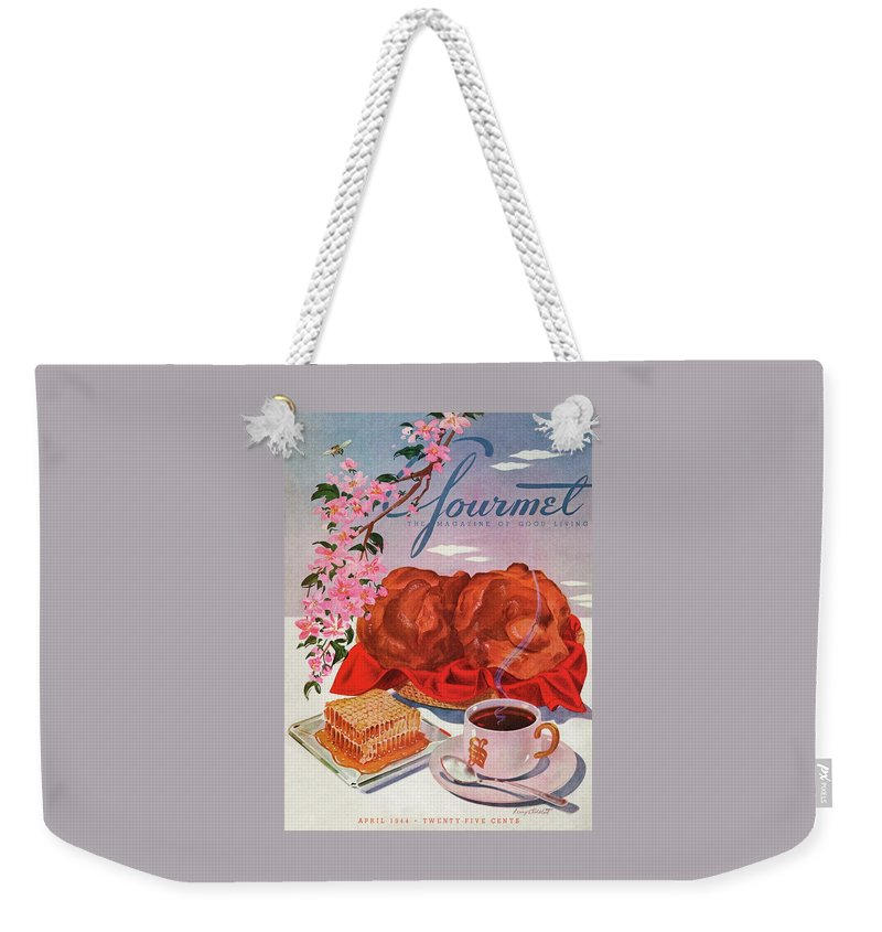 Gourmet Cover Illustration Of A Basket Of Popovers Weekender Tote Bag