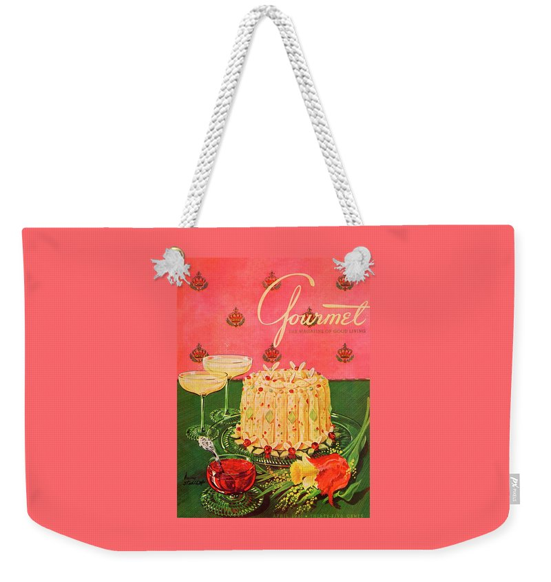 Illustration Weekender Tote Bag featuring the photograph Gourmet Cover Illustration Of A Molded Rice by Henry Stahlhut