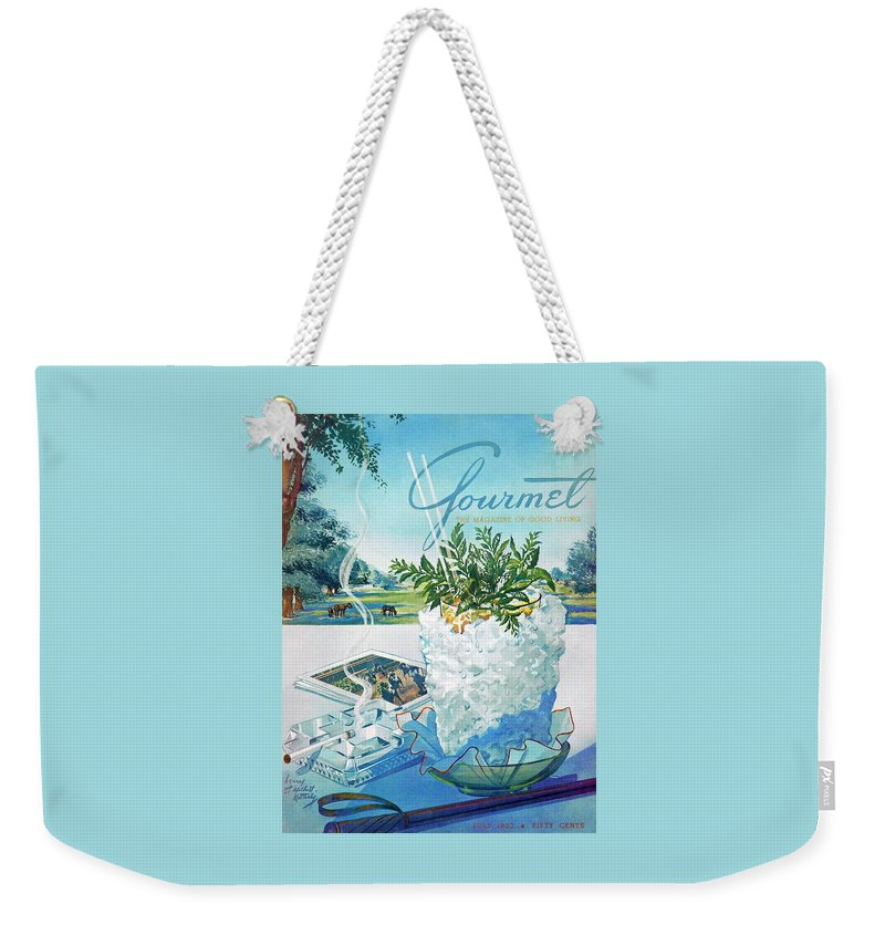 Gourmet Cover Illustration Of Mint Julep Packed Weekender Tote Bag