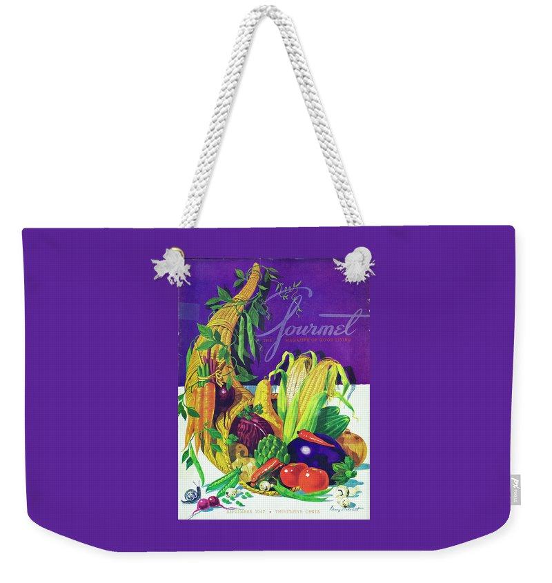 Gourmet Cover Of A Cornucopia Weekender Tote Bag