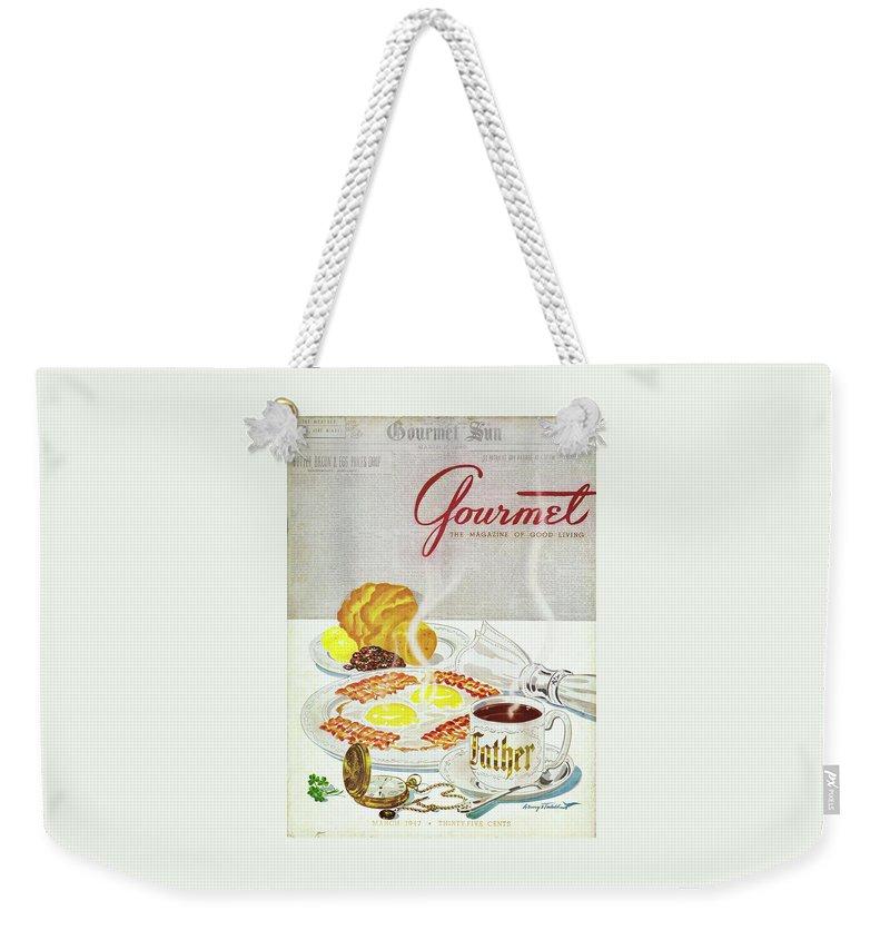 Gourmet Cover Of Breakfast Weekender Tote Bag