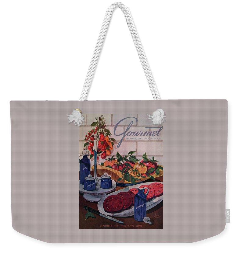 Gourmet Cover Of Tomatoes And Seasoning Weekender Tote Bag