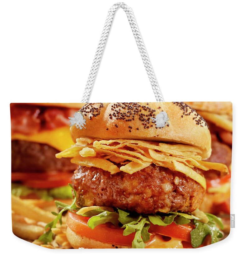 Stout Weekender Tote Bag featuring the photograph Gourmet Sliders by Lauripatterson
