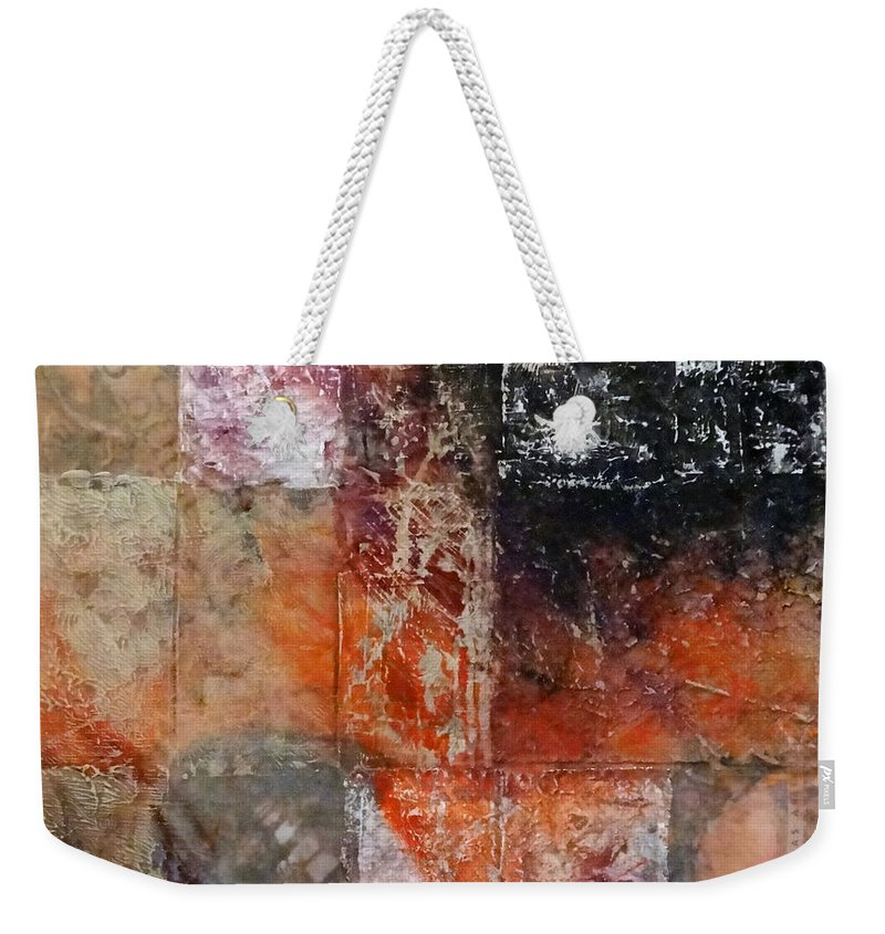 Grace Weekender Tote Bag featuring the mixed media Grace And Chaos by Barbara Oertli