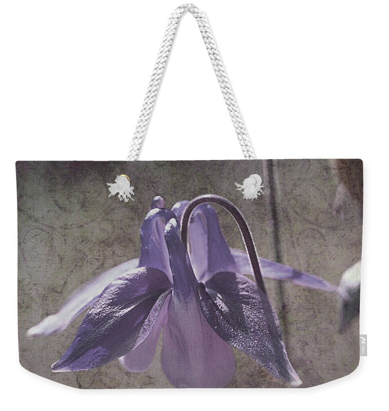 Purple Weekender Tote Bag featuring the photograph Graceful Lady by Liz Alderdice