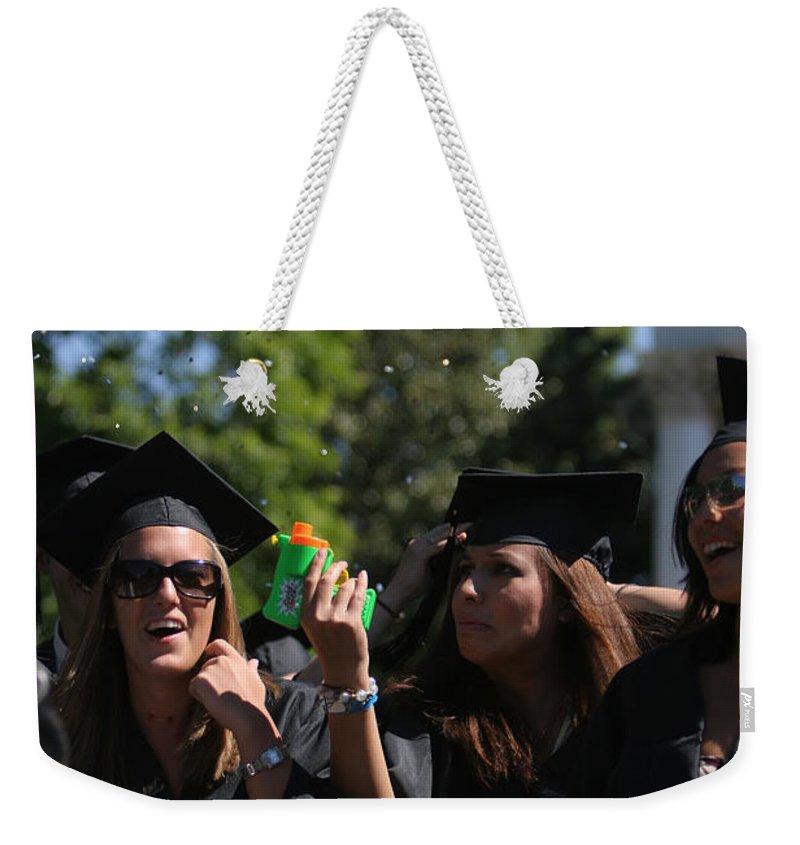 University Of Virginia Weekender Tote Bag featuring the photograph Graduation Uva by Jason O Watson