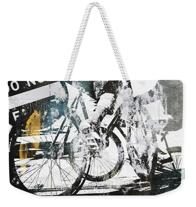 Bikes Weekender Tote Bag featuring the photograph Graffiti Bikes by Kyle Morris