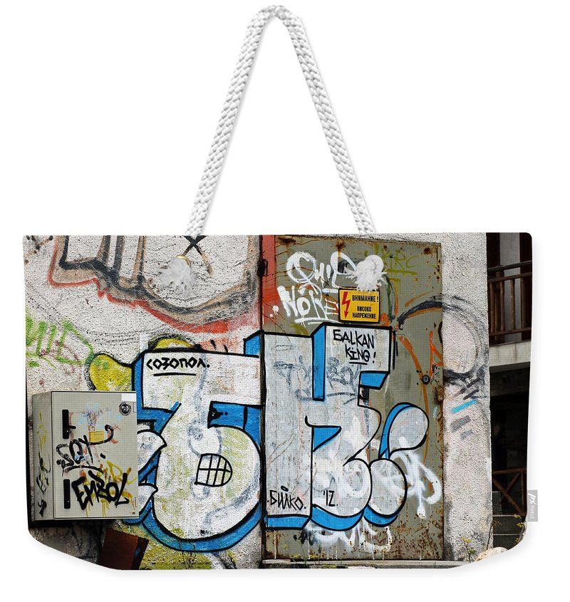 Graffiti In Sozopol Weekender Tote Bag featuring the photograph Graffiti In Sozopol by Tony Murtagh