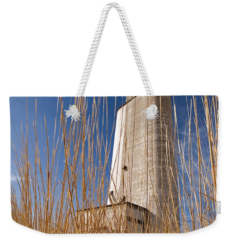 Farmland Weekender Tote Bag featuring the photograph Grain Elevator by Peter Tellone