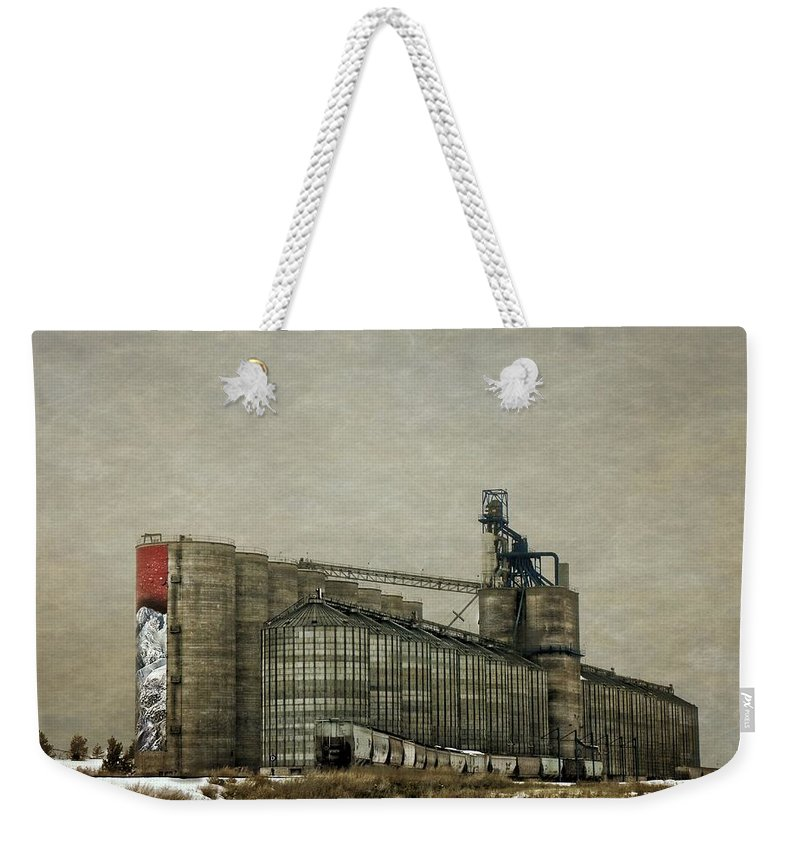 Grain Weekender Tote Bag featuring the photograph Grain Storage by Image Takers Photography LLC