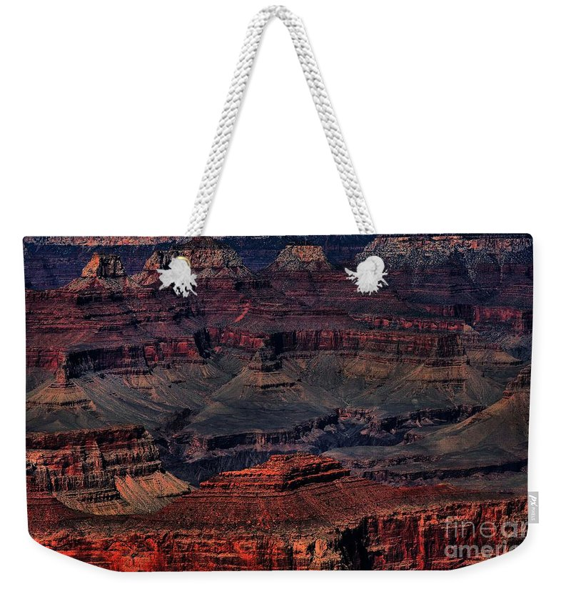 Landscapes Weekender Tote Bag featuring the photograph Grand Canyon 2 by Robert McCubbin