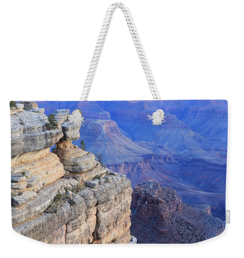 Nature Weekender Tote Bag featuring the photograph Grand Canyon At Dawn by Noa Mohlabane