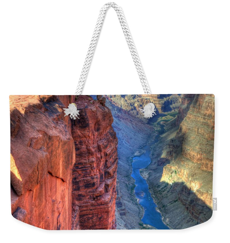 Grand Canyon Weekender Tote Bag featuring the photograph Grand Canyon Awe Inspiring by Bob Christopher