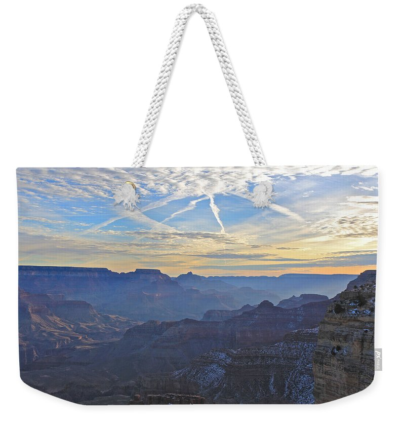 Nature Weekender Tote Bag featuring the photograph Grand Canyon Dawn 2 by Noa Mohlabane