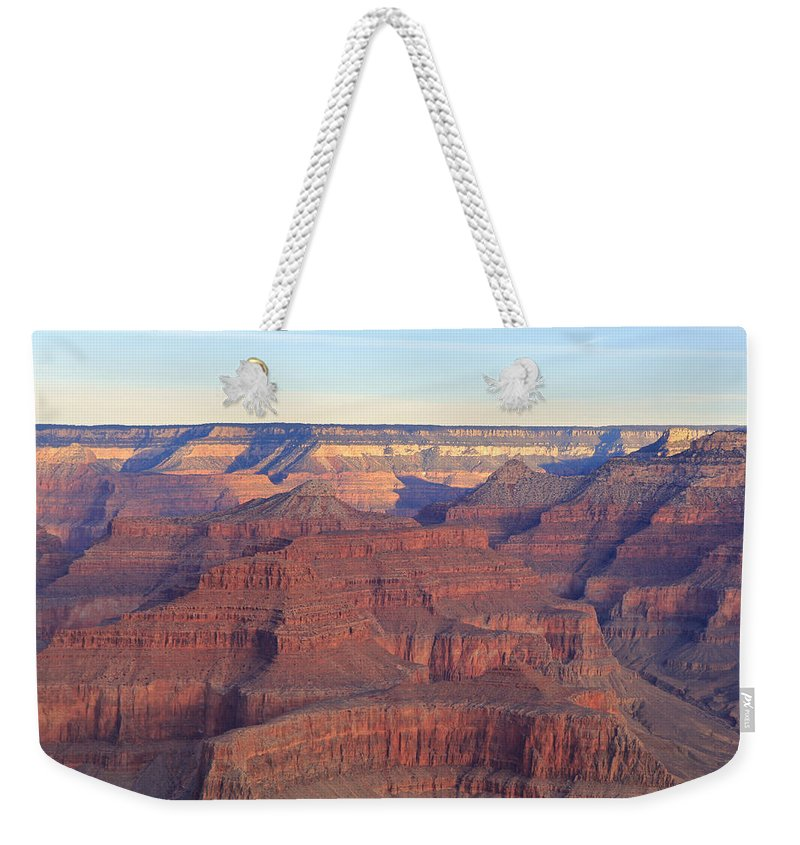 Nature Weekender Tote Bag featuring the photograph Grand Canyon Dawn 3 by Noa Mohlabane